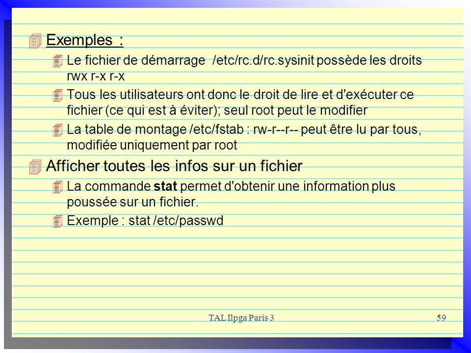 Afficher toutes les infos sur un fichier