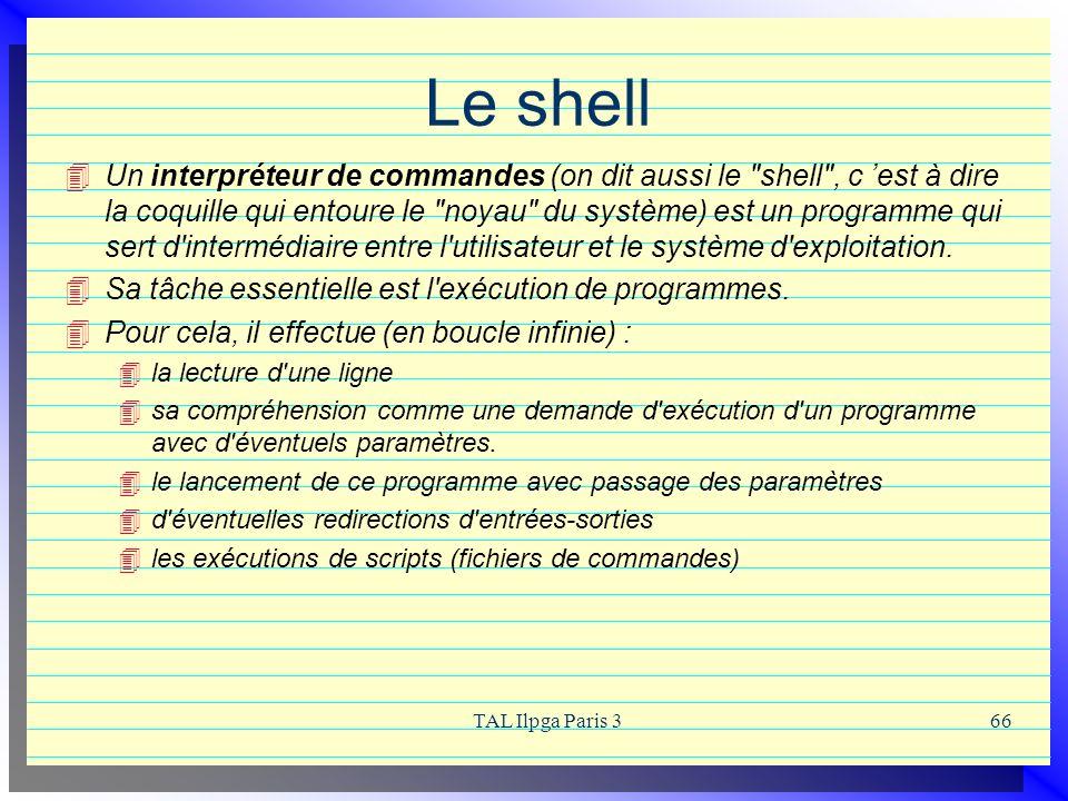 Le shell