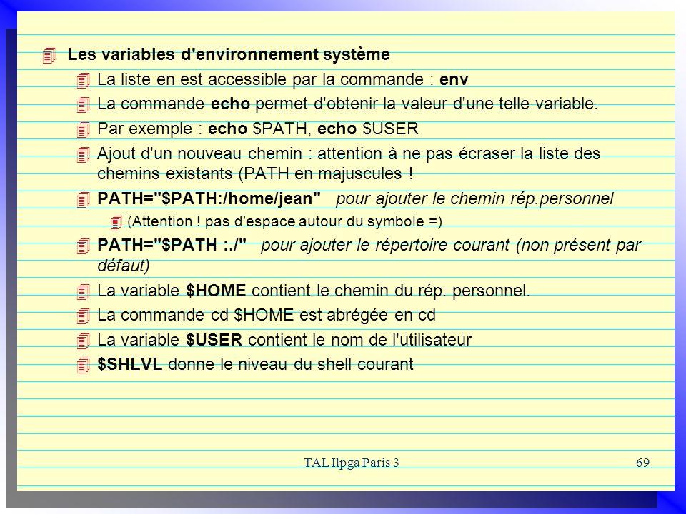 Les variables d environnement système
