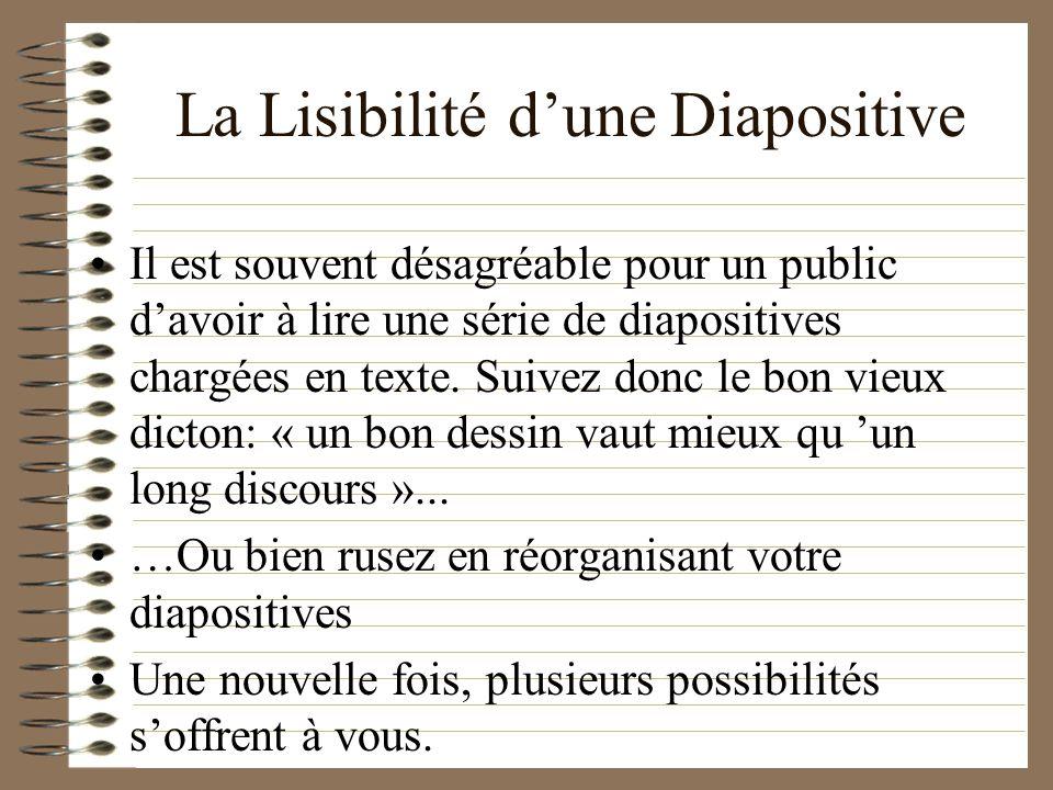 La Lisibilité d'une Diapositive