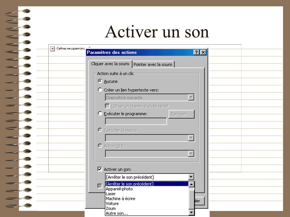 Activer un son