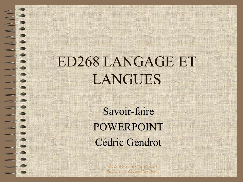 Savoir-faire POWERPOINT Cédric Gendrot