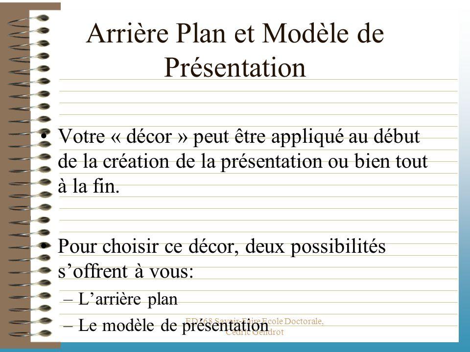 Arrière Plan et Modèle de Présentation