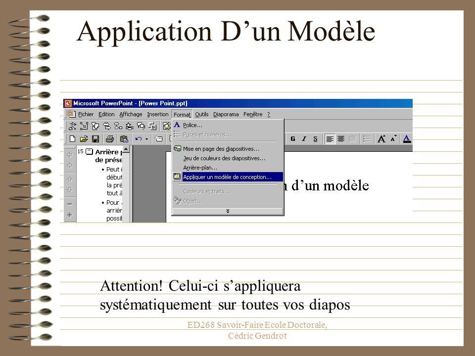 Application D'un Modèle