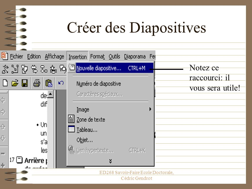 Créer des Diapositives