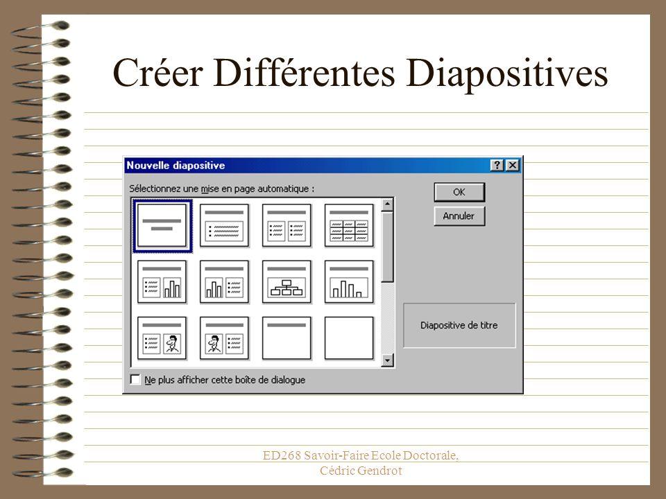 Créer Différentes Diapositives
