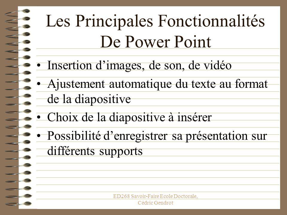 Les Principales Fonctionnalités De Power Point