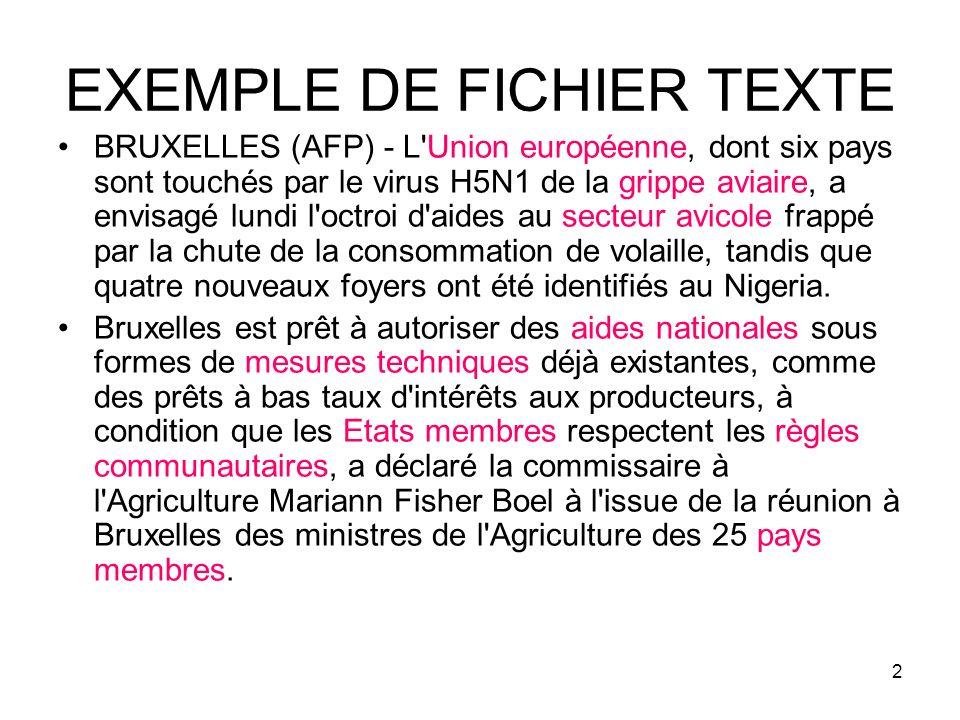 EXEMPLE DE FICHIER TEXTE