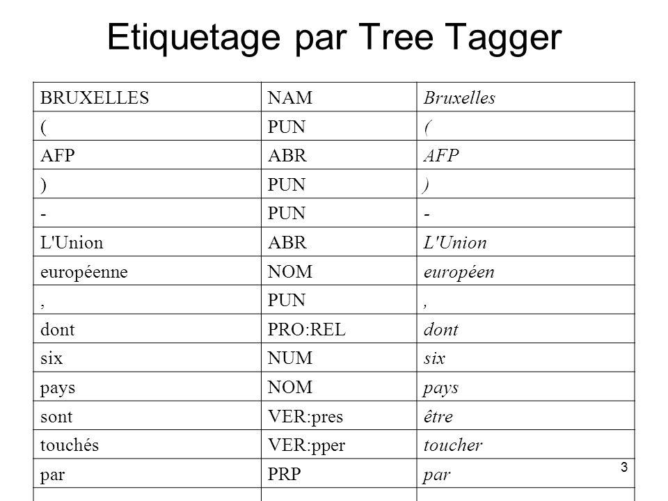 Etiquetage par Tree Tagger