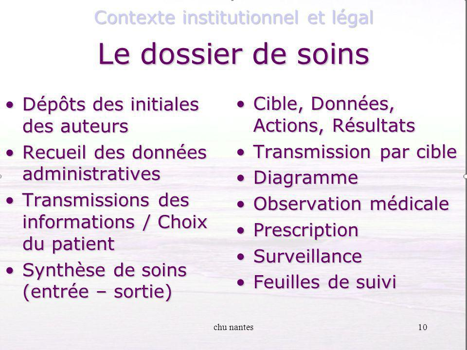 Contexte institutionnel et légal