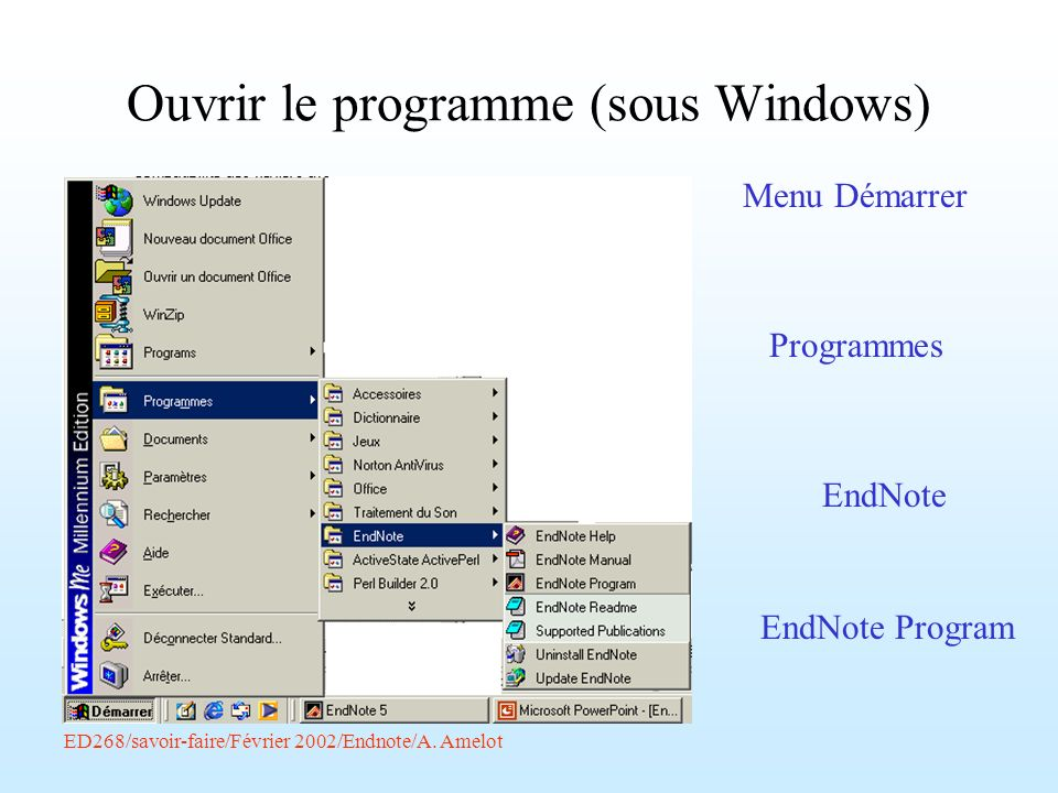 Ouvrir le programme (sous Windows)