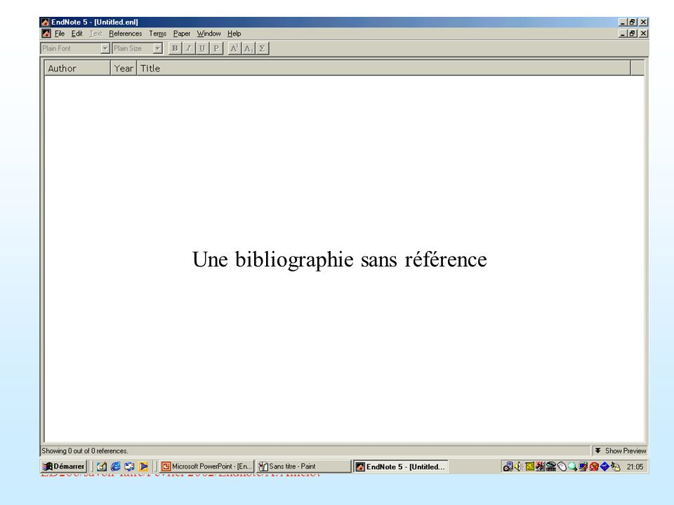 Une bibliographie sans référence