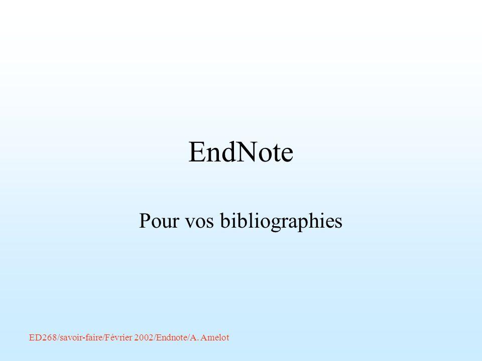 Pour vos bibliographies