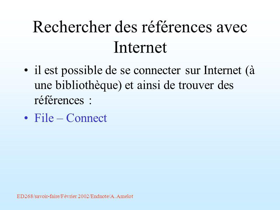 Rechercher des références avec Internet