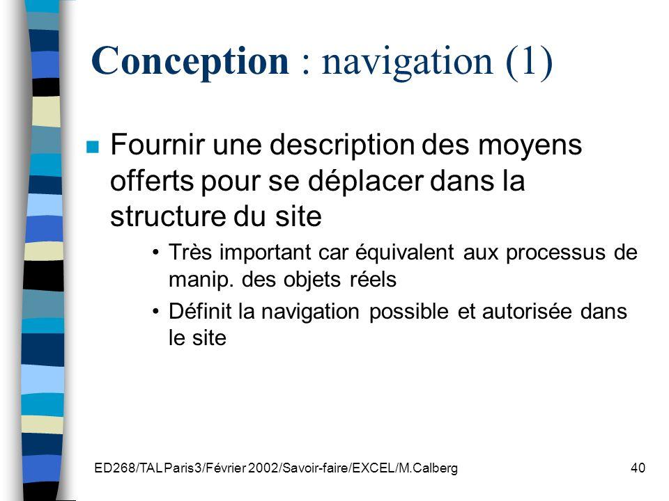 Conception : navigation (1)