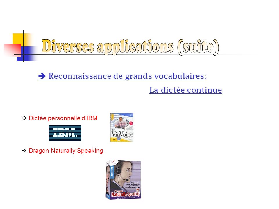 Diverses applications (suite)