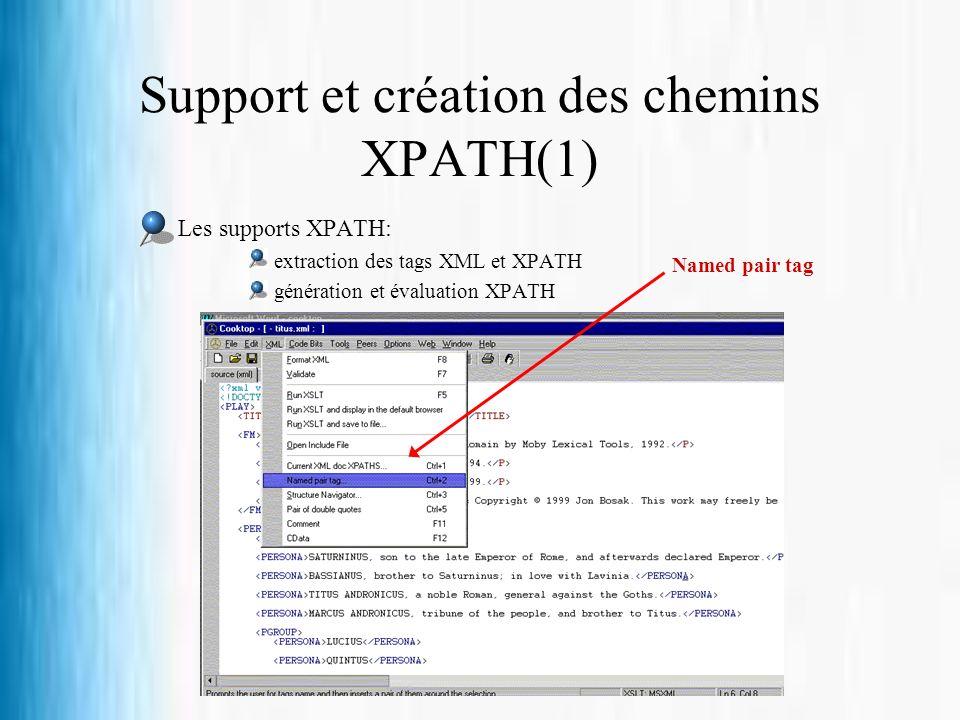 Support et création des chemins XPATH(1)