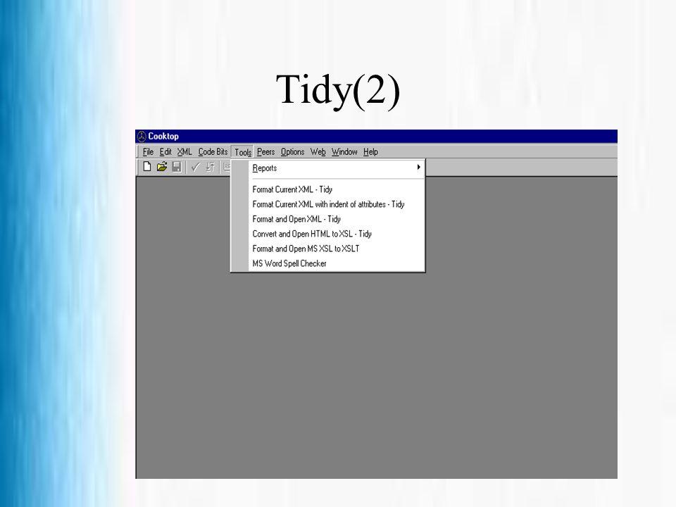 Tidy(2)