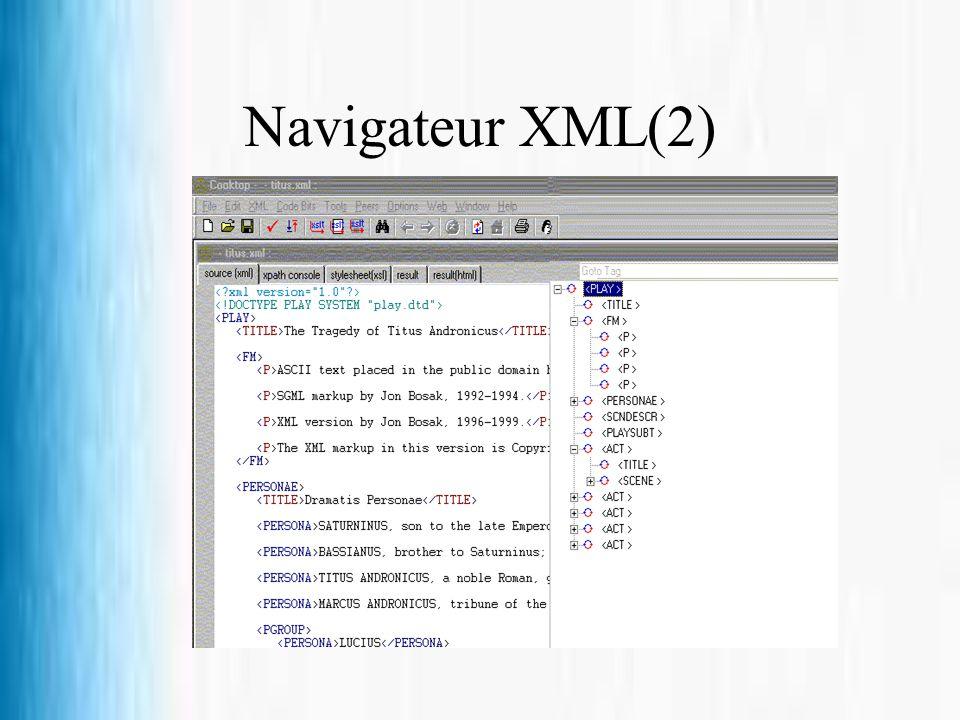 Navigateur XML(2)