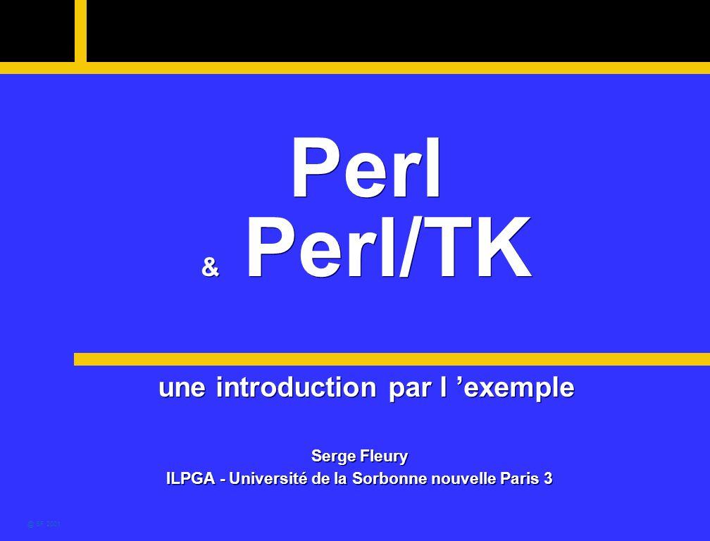 Perl & Perl/TK une introduction par l 'exemple