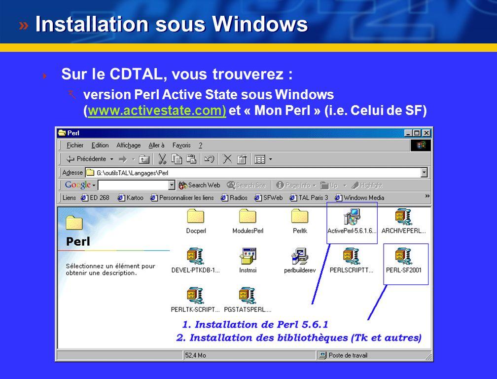 Installation sous Windows
