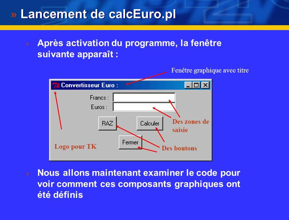 Lancement de calcEuro.pl