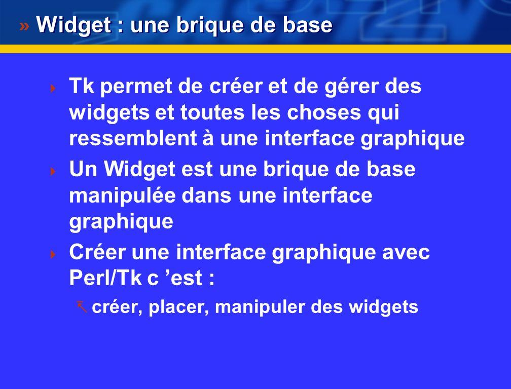 Widget : une brique de base
