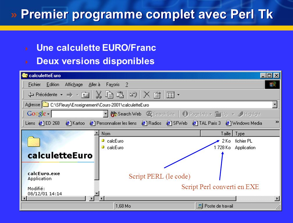 Premier programme complet avec Perl Tk