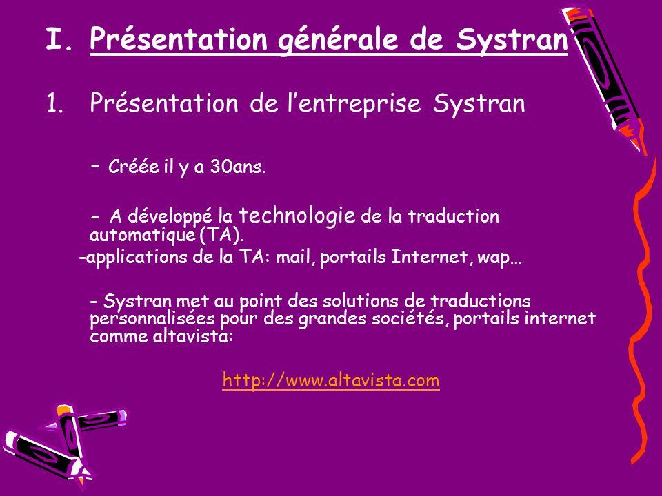 Présentation générale de Systran