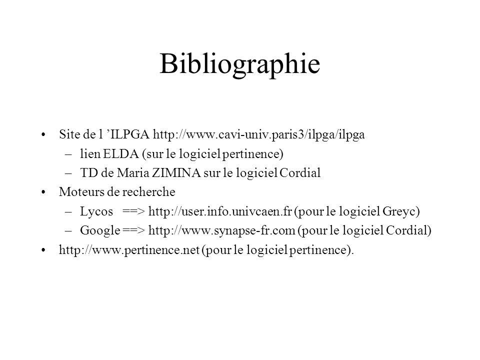 Bibliographie Site de l 'ILPGA http://www.cavi-univ.paris3/ilpga/ilpga