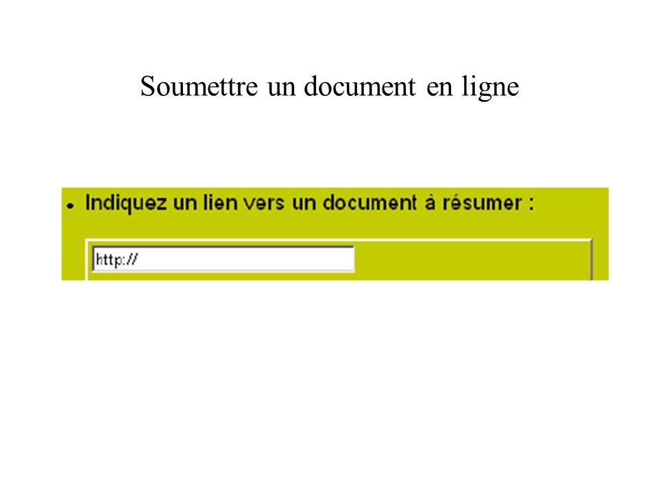 Soumettre un document en ligne