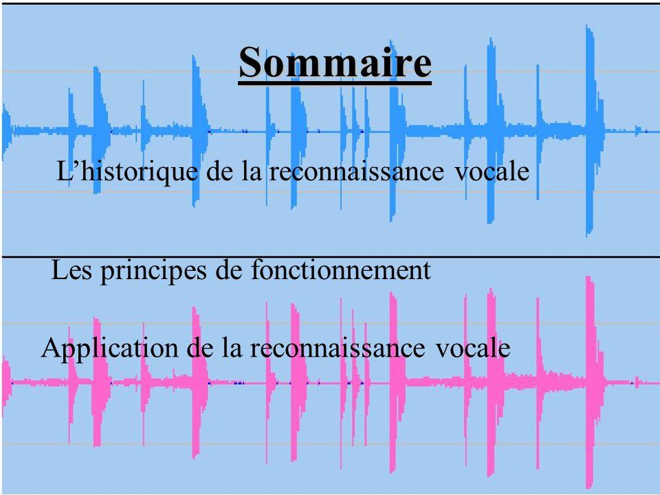 Sommaire L'historique de la reconnaissance vocale
