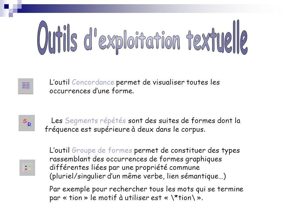 Outils d exploitation textuelle