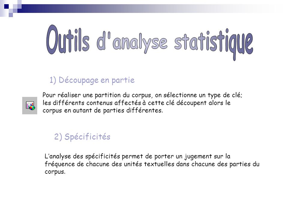 Outils d analyse statistique