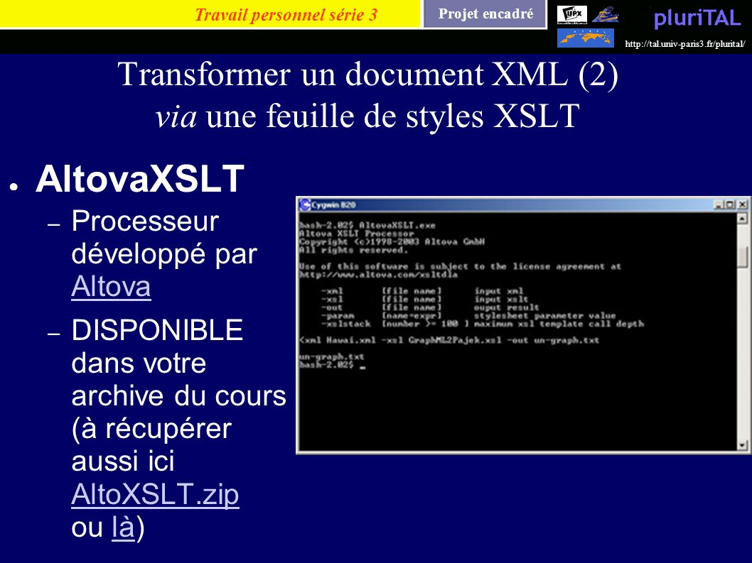 Transformer un document XML (2) via une feuille de styles XSLT