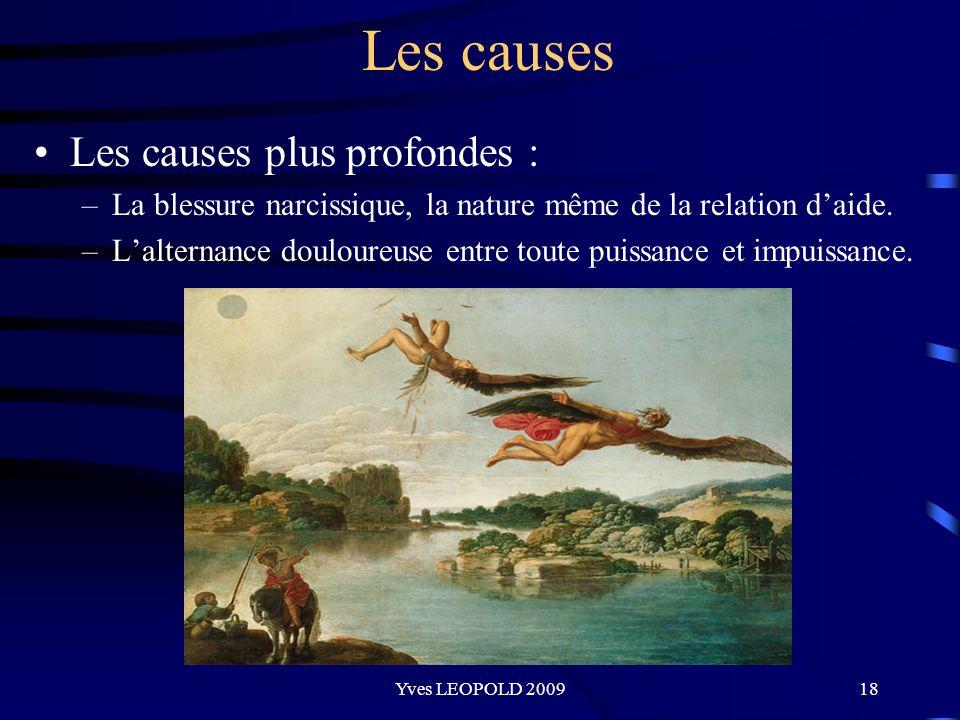 Les causes Les causes plus profondes :