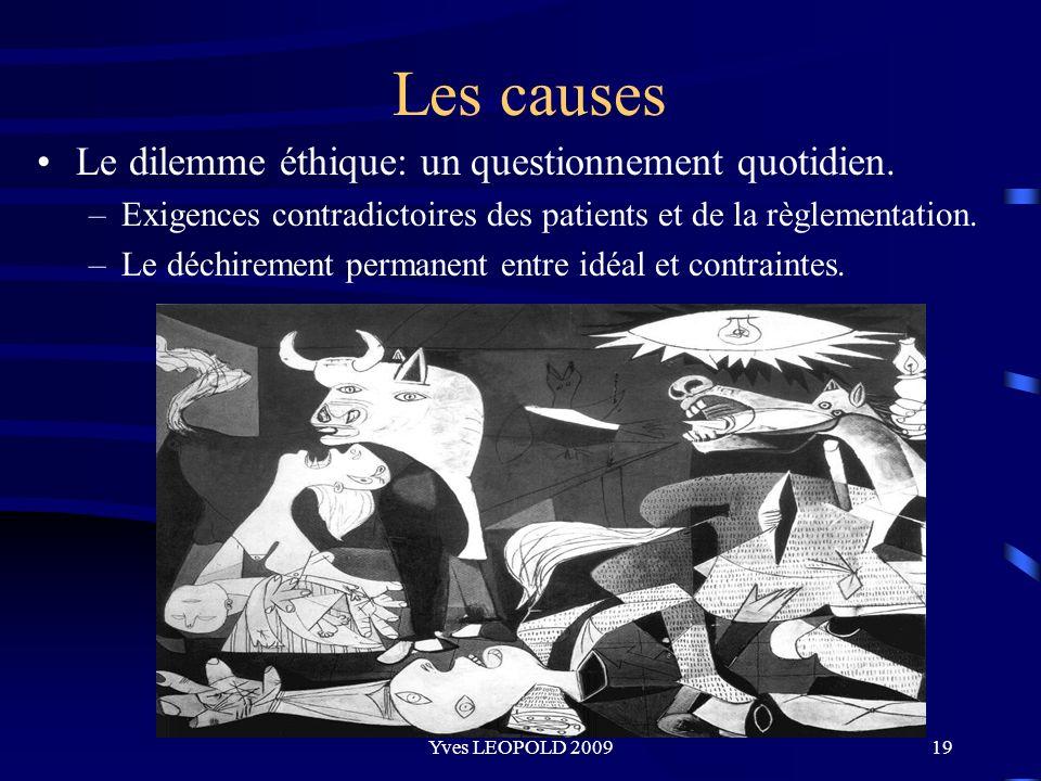 Les causes Le dilemme éthique: un questionnement quotidien.