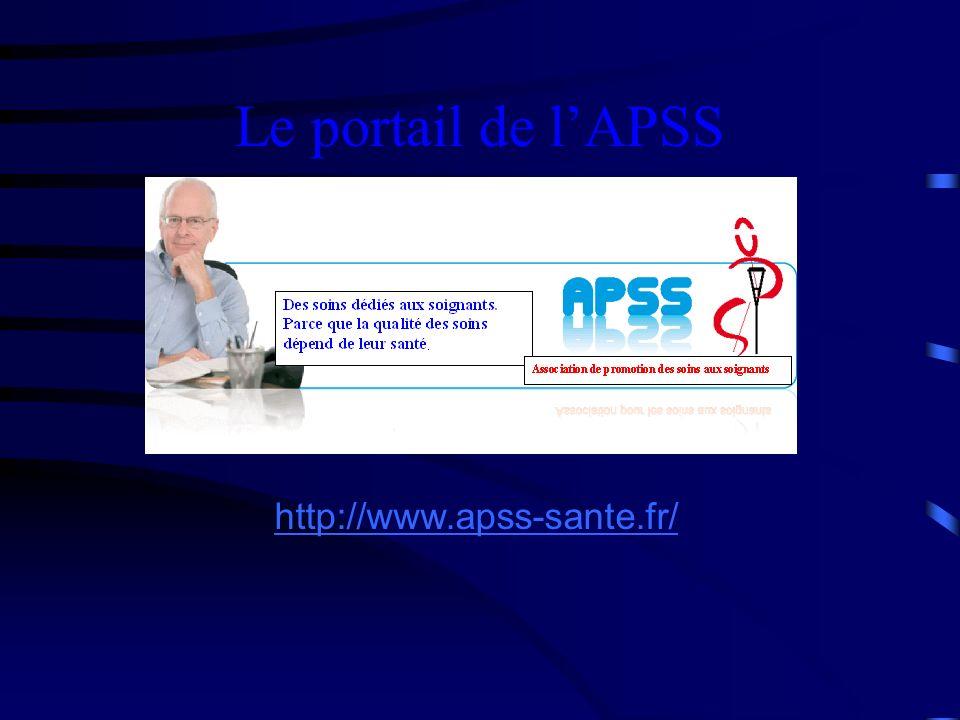 Le portail de l'APSS http://www.apss-sante.fr/ 21