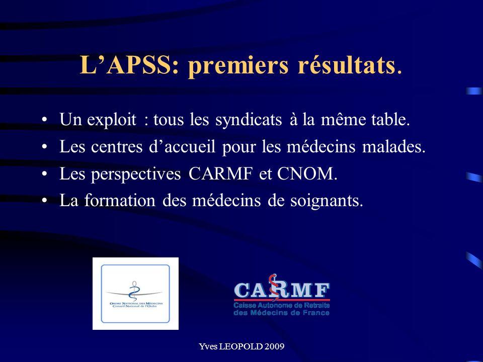 L'APSS: premiers résultats.