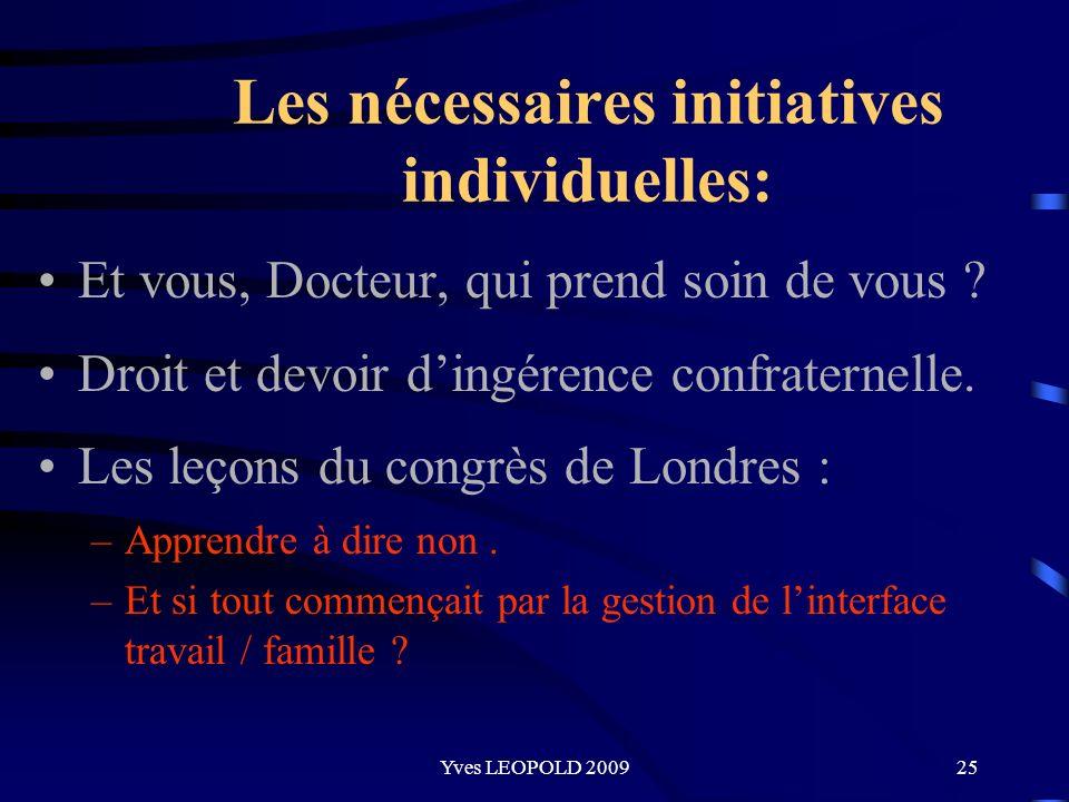Les nécessaires initiatives individuelles: