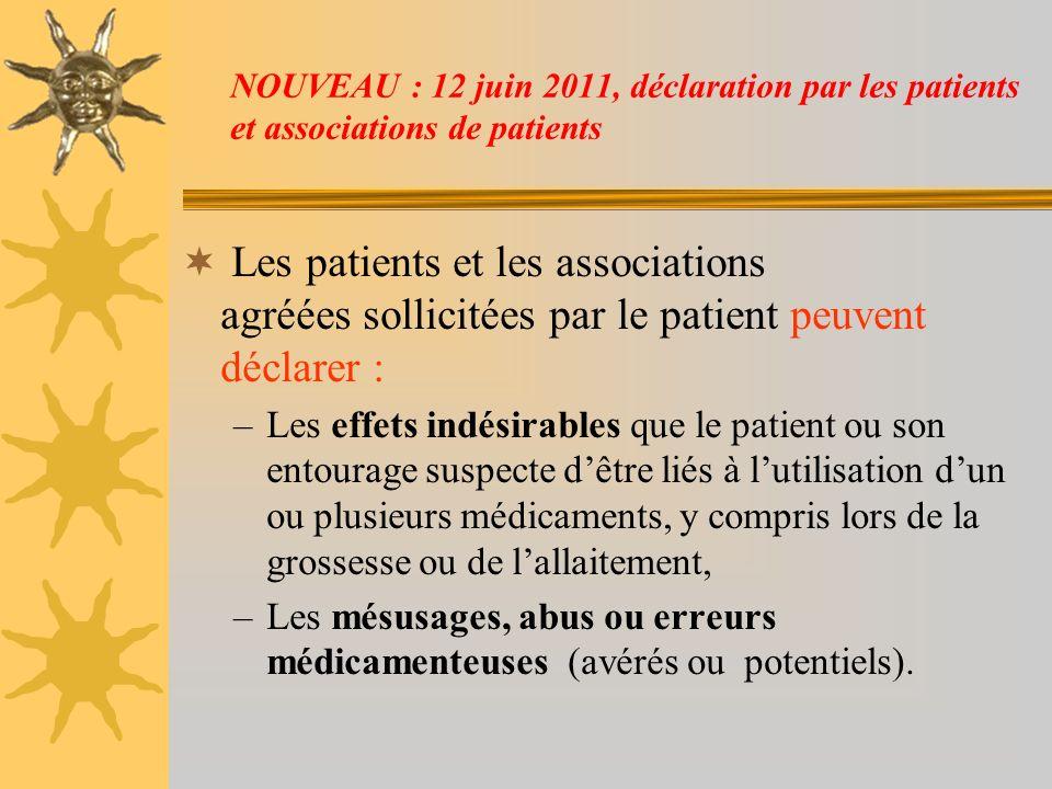 NOUVEAU : 12 juin 2011, déclaration par les patients et associations de patients