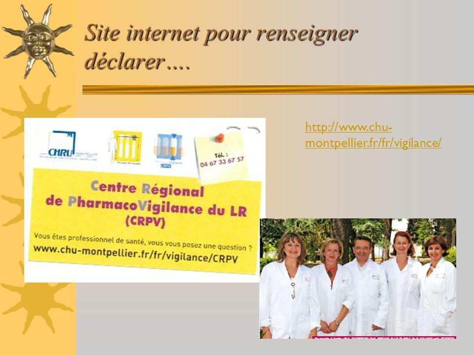 Site internet pour renseigner déclarer….