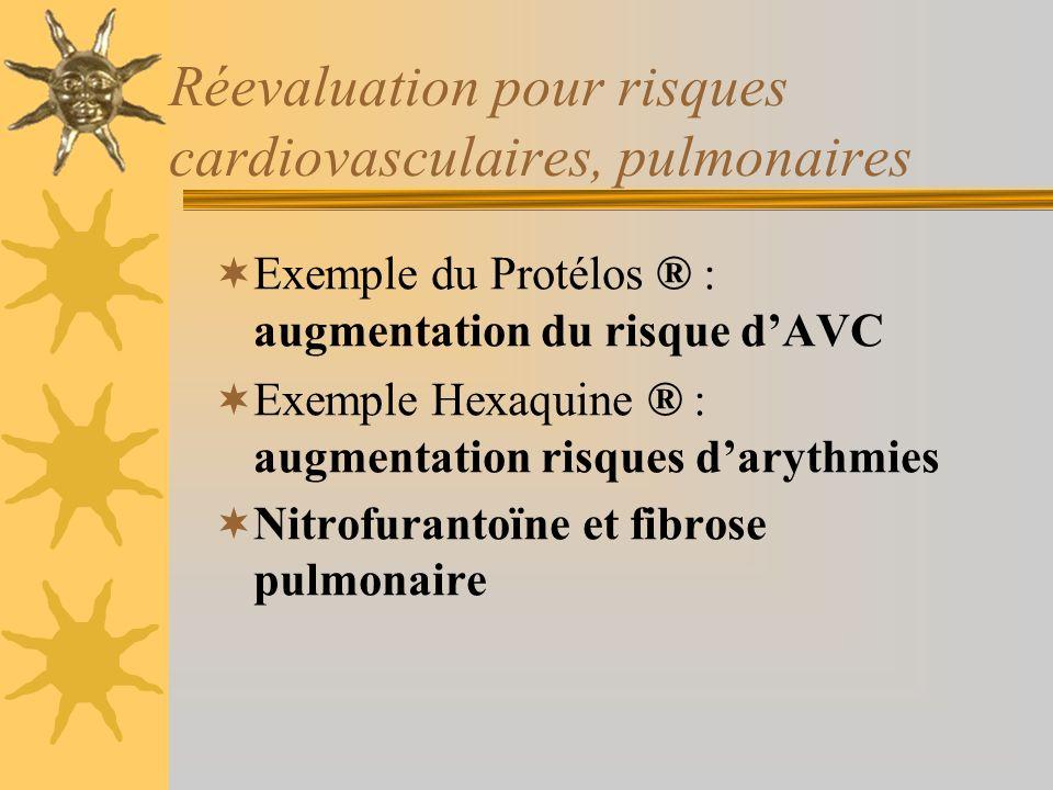 Réevaluation pour risques cardiovasculaires, pulmonaires
