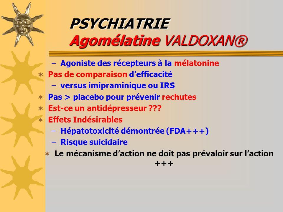 PSYCHIATRIE Agomélatine VALDOXAN®