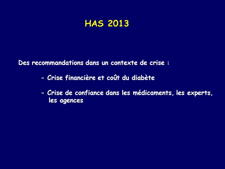 HAS 2013 Des recommandations dans un contexte de crise :
