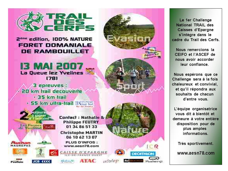 www.aesn78.com Le 1er Challenge National TRAIL des Caisses d'Epargne