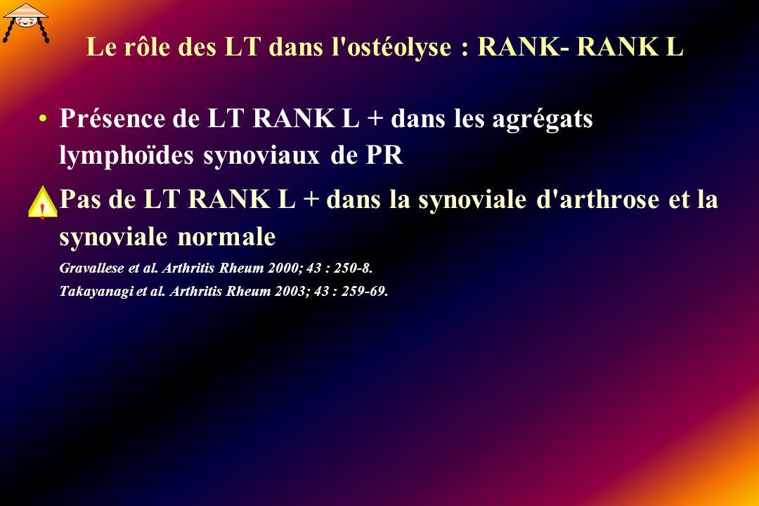 Le rôle des LT dans l ostéolyse : RANK- RANK L