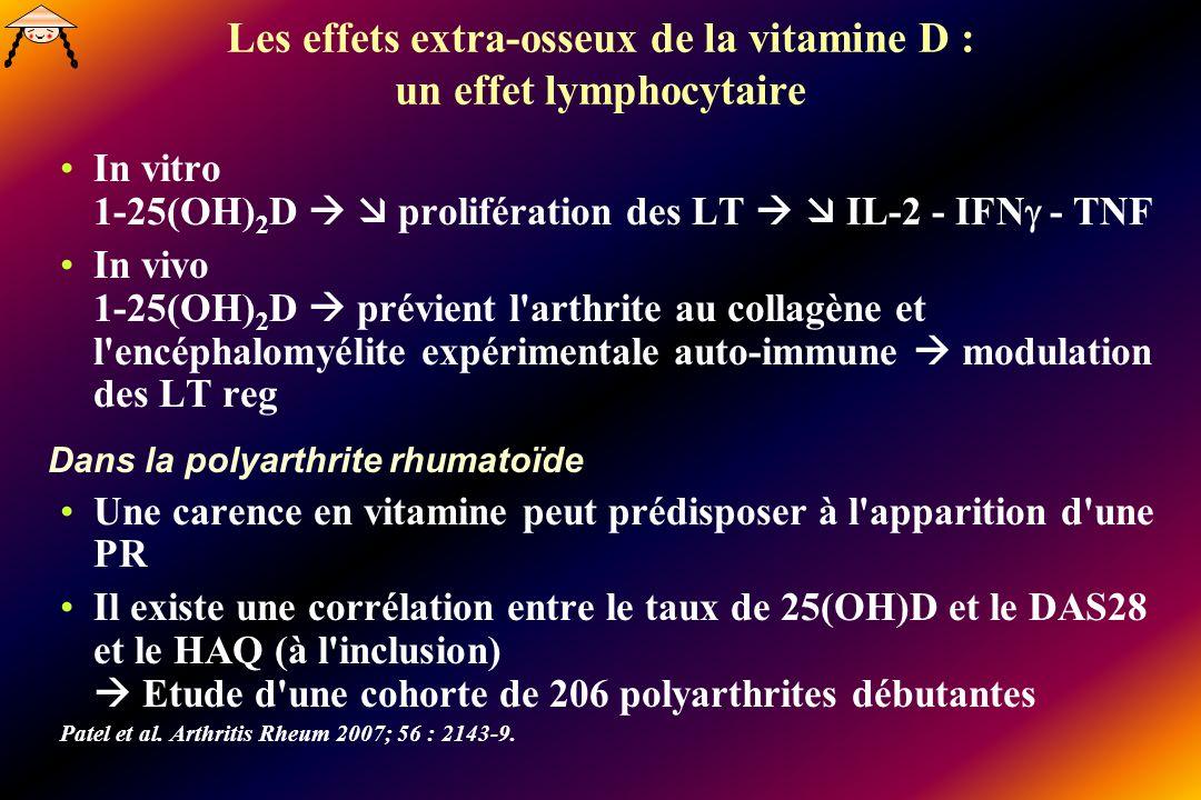 Les effets extra-osseux de la vitamine D : un effet lymphocytaire