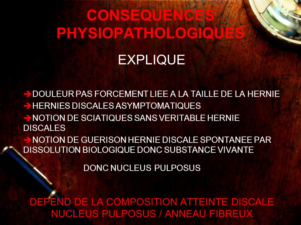 CONSEQUENCES PHYSIOPATHOLOGIQUES