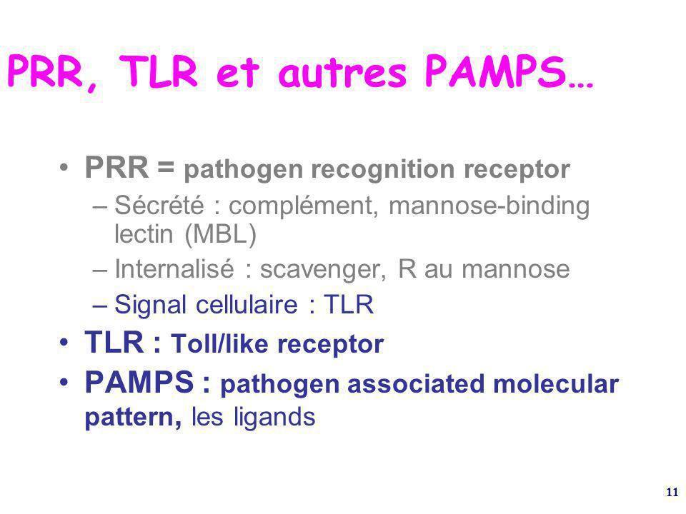 PRR, TLR et autres PAMPS…